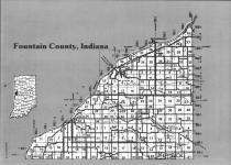 Fountain County Index Map 001, Fountain and Warren Counties 1993